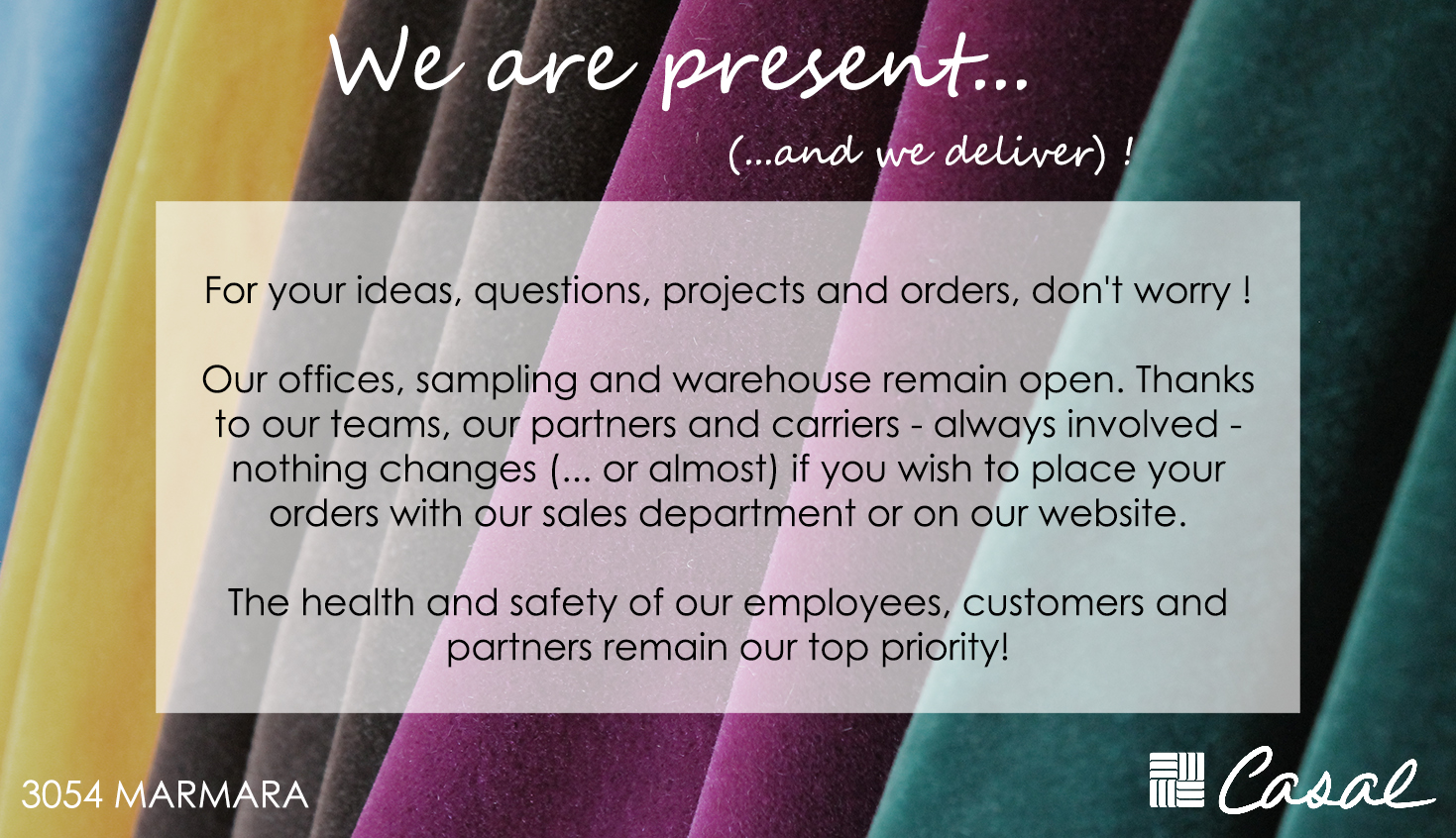 We are present (and we deliver) !